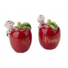 نمکدان طرح سیب بسته 2 عددی