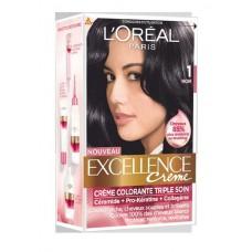 کيت رنگ مو لورآل شماره 1 Excellence  مشکی